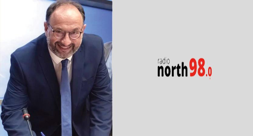 ΒΟΡΕΙΟΣ ΑΝΤΙΚΤΥΠΟΣ / Συνέντευξή μου  στο διευθυντής του Radio North 98 Βαγγέλη Μωυσή